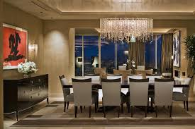 image of gorgeous rectangular chandelier dining room