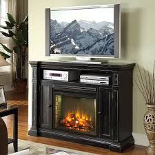 manchester 58 fireplace a center tv stand mantel in rustic black