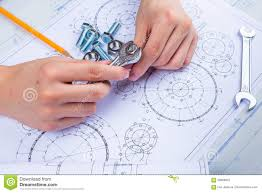 Design Engineer Images Mechanical Design Engineer In Drawing Stock Image Image Of