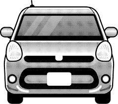 車のイラストパッソ正面自動車乗り物素材のプチッチ