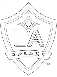 Small Picture Logo of Los Angeles Galaxy football team Coloring pages