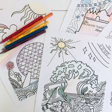 Facebook is showing information to help you better understand the purpose of a page. Walt Disney World Parks Disney Coloring Pages Set Of 4 Polka Dot Pixie Shop