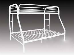 metal bunk bed. TWIN / FULL METAL BUNK Bed FRAME, WHITE Metal Bunk