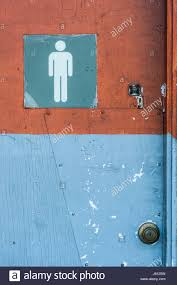 blue mens bathroom sign. Men\u0027s Bathroom Sign In An Old Abandoned Gas Station With Cracked Paint Blue Mens