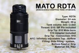 Top fill tanks found in: Vandy Vape Mato Rdta Review Planet Of The Vapes