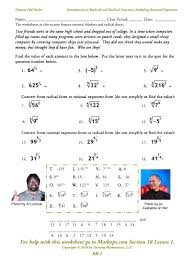 radicals and radical functions