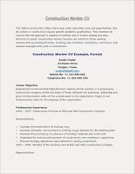 Construction Foreman Resume Best Resume For Construction