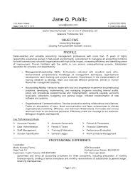 Sample Of Federal Resume Accounting Manager Resume Accounting