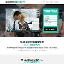 Business opportunity landing page design to boost your business ...