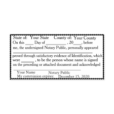 Notary Public Template Scalloped Border Notary Public Acknowledgement Self Inking Stamp