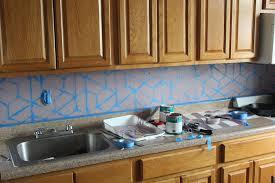 easy diy geometric tile painted backsplash runaway apricot