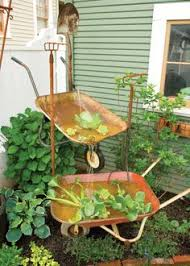 Amazing rustic garden decor ideas Wedding Recycle Old Wheelbarrows Into Charmingly Rustic Garden Fountain With This Diy Project Water Fountains Pinterest 263 Best Rustic Garden Decor Images Garden Art Gardening Home