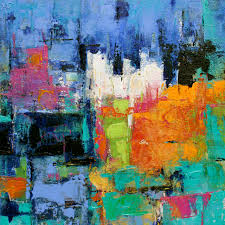 visceral contemporary abstract painting by elizabeth chapman