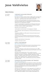 Corporate Purchasing Manager Resume samples