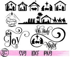 Great for crafting christmas home decorations. Manger Svg Etsy