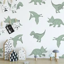 Dinosaurus Behang Groen Vanaf 10 Stuks Hip Huisje