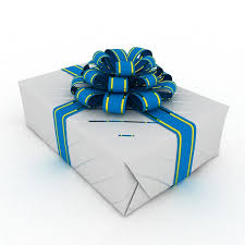 3d model wrapped gift box