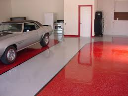 floor paint ideasRed And Gray Painted Color Epoxy Floor Inside Garage House Design