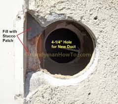 How To Replace A Bathroom Exhaust Fan And Ductwork Outdoor Vent Cap Exterior Wall Mount Exhaust Fan