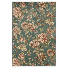 kas rugs cherish the flower green ivory 5 ft x 8 ft area