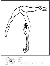 Gymnastic Coloring Sheets Pages Gymnastics Home Improvement Plus