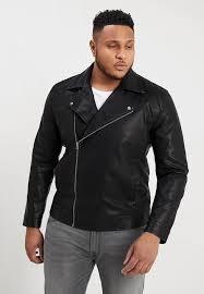 onsmikepu biker jacket faux leather jacket colour black