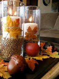 Here is a similar crate that is a substantial size for a coffee table, however if you have a wood coffee table i'd probably choose something metal, woven or white so that it pops. Awesome 43 Fall Coffee Table Decor Ideas 43 Fall Coffee Table Decor With Glass Candlesticks Pumpkins Fall Flo Fall Centerpiece Fall Candles Fall Coffee Table