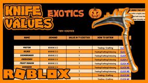 Roblox Assassin Value List 2018 Halloween Old