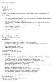 Sample Resume For Kitchen Hand