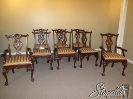 15849 offered are the set of 8 solid gany chippendale style dining room chairs these are the rittenhouse square model and feature fine