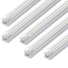 8ft Black Light Bulb 8ft Led Shop Light 72w 7500lm 6500k T8 V Shape Integrated Tube Light Fixture Hight Output Brighter White Led Tube Light For Garage Warehouse