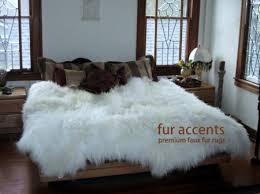 premium faux fur sheepskin rug accent throw 7 new