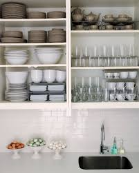 Kitchen:Great Looking Kitchen Design With Neat White Wall Shelves And  Square Kitchen Sink Decor