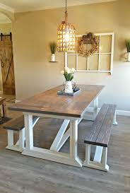 dining room table. I Followed Ana White\u0027s DIY Farmhouse Table Plans To Build Our New Dining Room Table. Finish The With Chalk Paint And Two Stains Get This Look. U
