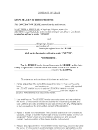 Contract Of Lease | Lease | Contract Law