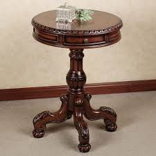 wonderful round pedestal accent table small end pertaining to prepare 15