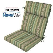 allen roth neverwet 1 piece stripe green high back patio chair cushion