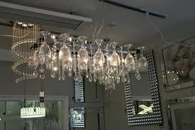 glass droplet chandelier vino light wine glass chandelier crystal droplets from searchlight droplet glass pendant chandelier