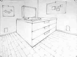 Two-Point Perspective - House. Done. Intro To Drawing: 2013-