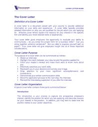 Cover Letter Meaning