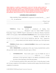 Construction Contract Format Construction Contract Template Oninstall 8