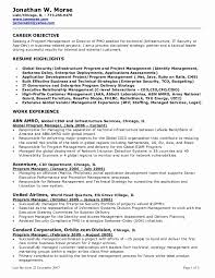 Technical Project Manager Resume Beautiful Objective For Management