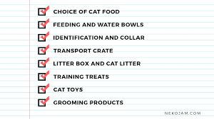 Essential Checklist For The New Cat Owner In Singapore Nekojam Com