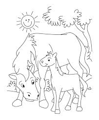 Baby Farm Animal Coloring Pages Goat Lovely Mother And Animals Auchmar
