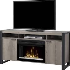 details about bowery hill electric fireplace tv stand with acrylic in steeltown