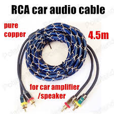 best best car audio speakers trending ideas car best selling 4 5m pure copper rca to rca car audio cable stereo cable pearl blue