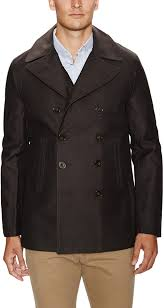 french connection twill double ted peacoat