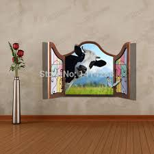 kid birthday party decoration 3d three dimensional home wall stickers cow ceiling floor wallpaper wall painting in wall stickers from home garden on