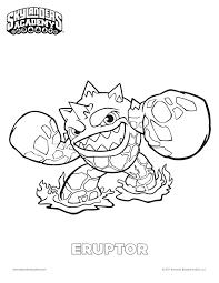 Eruptor Skylanders Academy Coloring Page Fsm Media