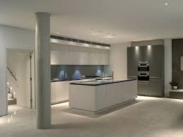 Roundhouse grey and white matt lacquer contemporary kitchen
